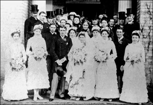 Fred Archer's wedding