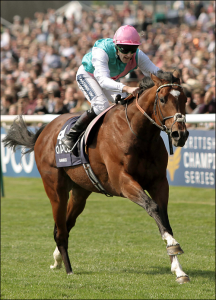 Frankel winning the 2011 2000 Guineas